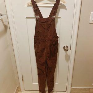 Free people corduroy overalls